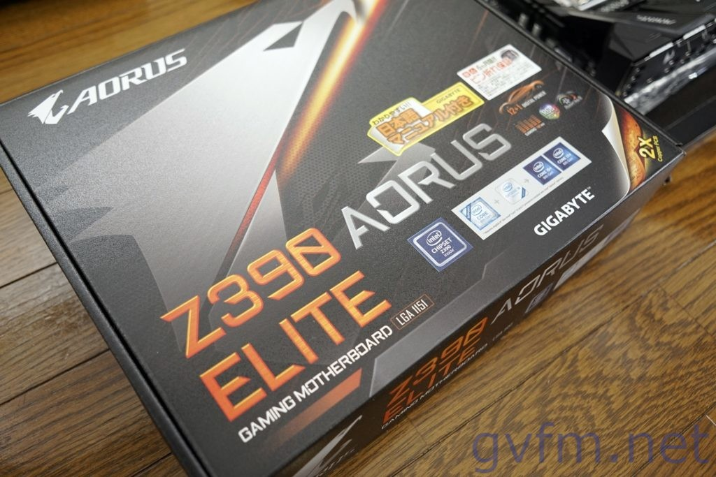 ザーボード-gigabyte-z390-AORUS-ELITE-パッケージ表