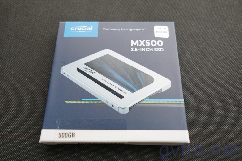 SSD-crucial-MX500 CT500MX500SSD1-パッケージ写真