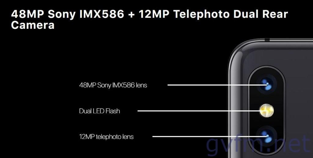 Umidigi S3 Proのカメラ 1/2インチサイズのセンサー