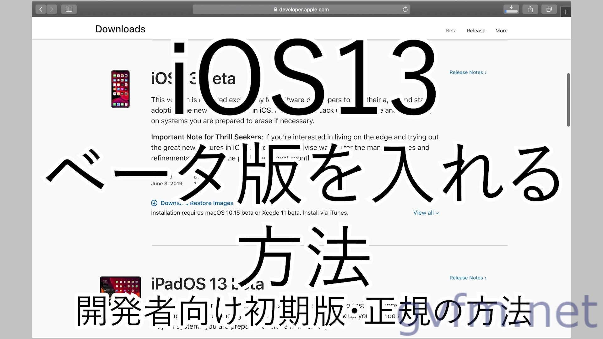 iOS13ベータ版をインストールする方法 入れ方