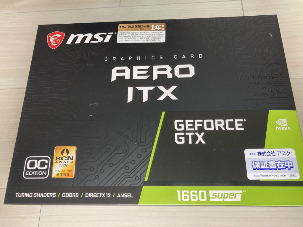 GeForce GTX 1660 SUPER AERO