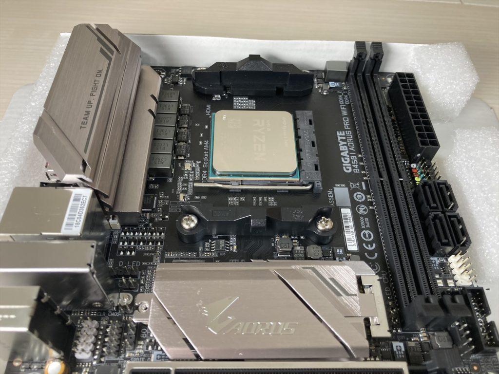 CPUを取り付ける